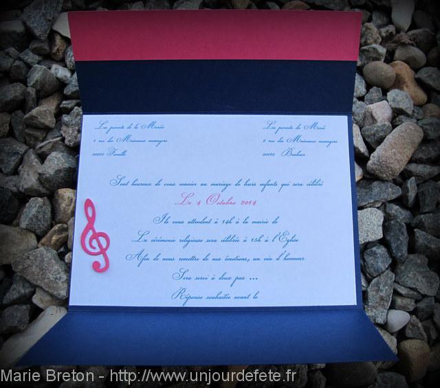 Populaire Faire-part Mariage Bleu marine & Fushia | Un jour de fête : Les  IU97