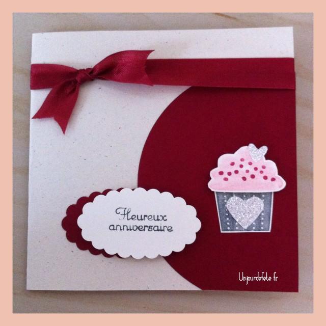 Cupcake Happy birthday stampin up