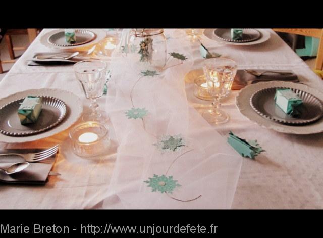 décoration tables noël Givré