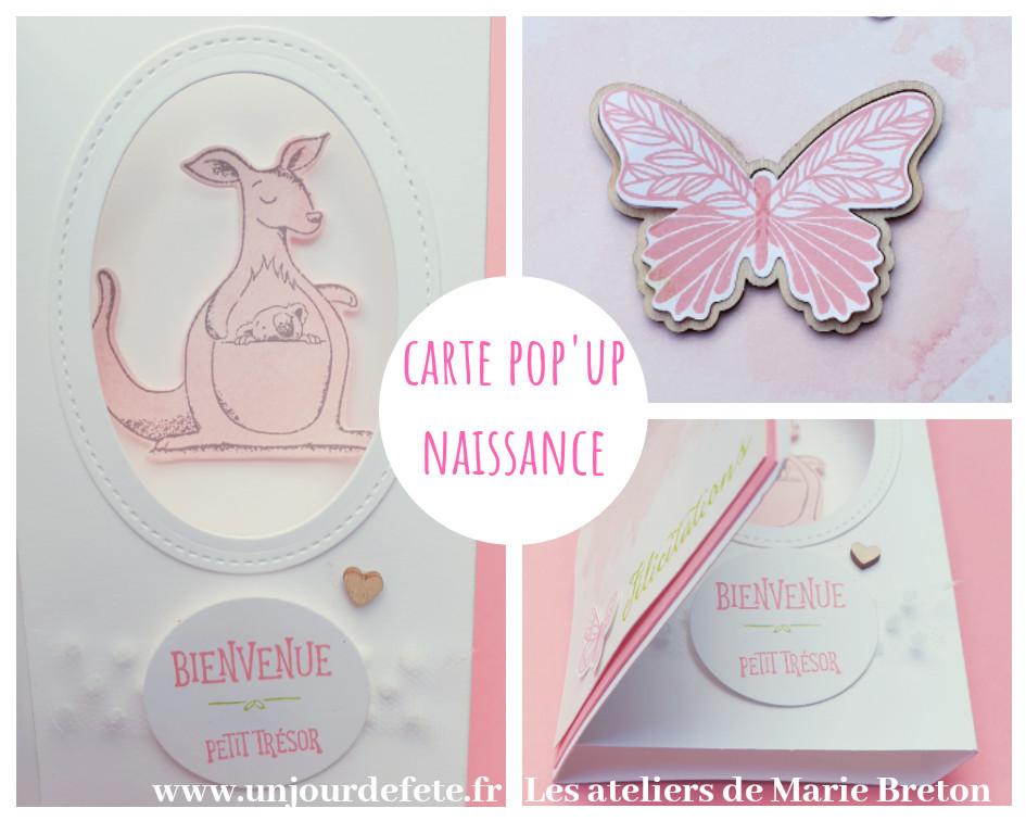 Carte naissance pop'up